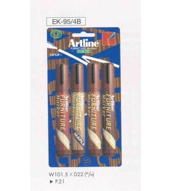 Markery do drewna / mebli kpl.4 kolorów (AR-095)