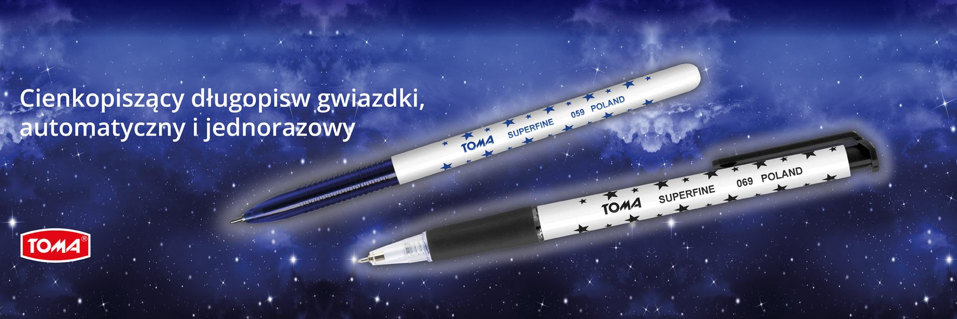 Długopis w gwiazdki